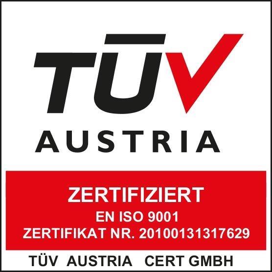 TÜV Austria - Zertifiziert - EN ISO 9001