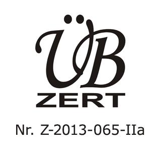 Übzert - Zertifiziert - Z-2013-065-IIa