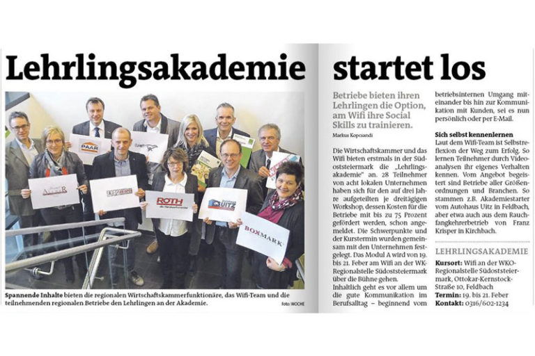 (German) WOCHE Artikel- Lehrlingsakademie