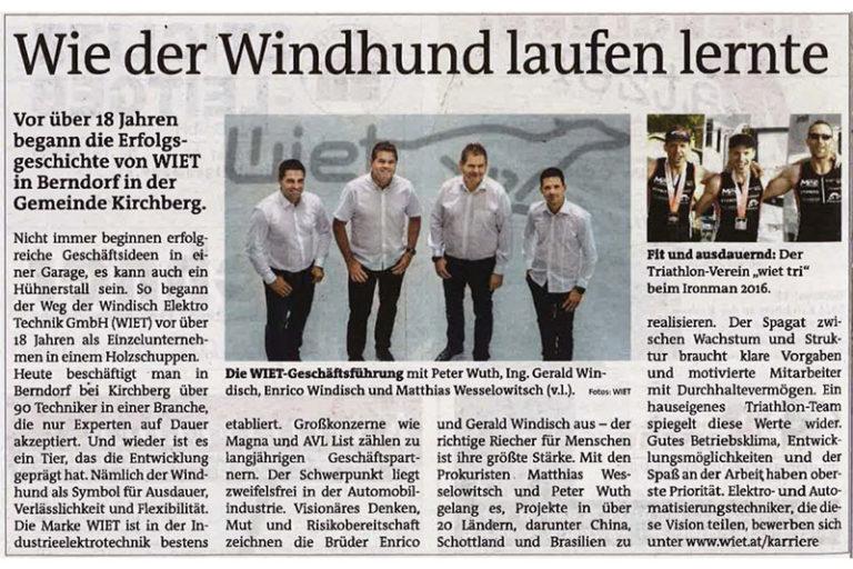 (German) Zeitungsartikel in der WOCHE